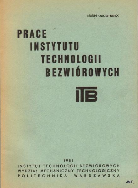 Okładka Prace ITB